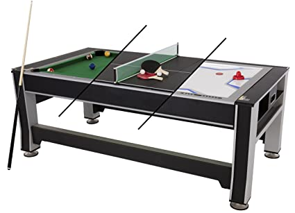 9063f3ab0ee6d Image Unavailable. Image not available for. Color  Triumph 3-in-1 Swivel  Multigame Table