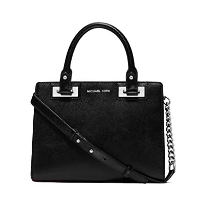 d6349c7c39f568 Michael Kors Quinn Large Saffiano Leather Satchel-Black: Handbags:  Amazon.com