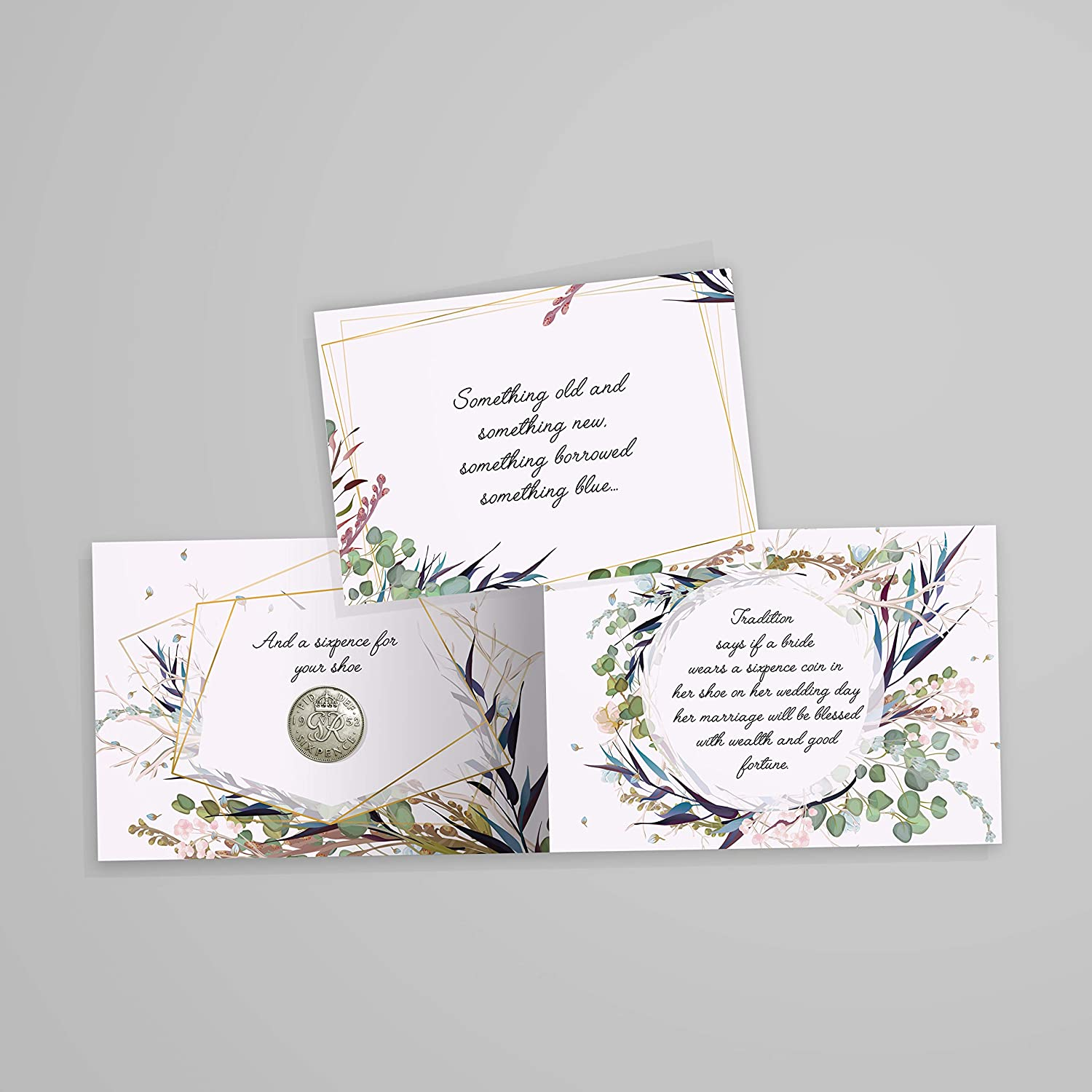 Amazon Com Authentic Sixpence Coin With Card Envelope For The Bride Something Old Something New Something Borrowed Something Blue And A Sixpence For Her Shoe Toys Games