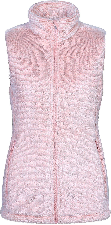 Outdoor Ventures Women's Full Zip Plush Soft Sherpa Fleece Vest Outerwear Lightweight Sleeveless Jacket Gilet with Pockets