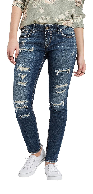 Silver Women's Suki Dark Wash Skinny Jeans - L93136sjl346 2000223629