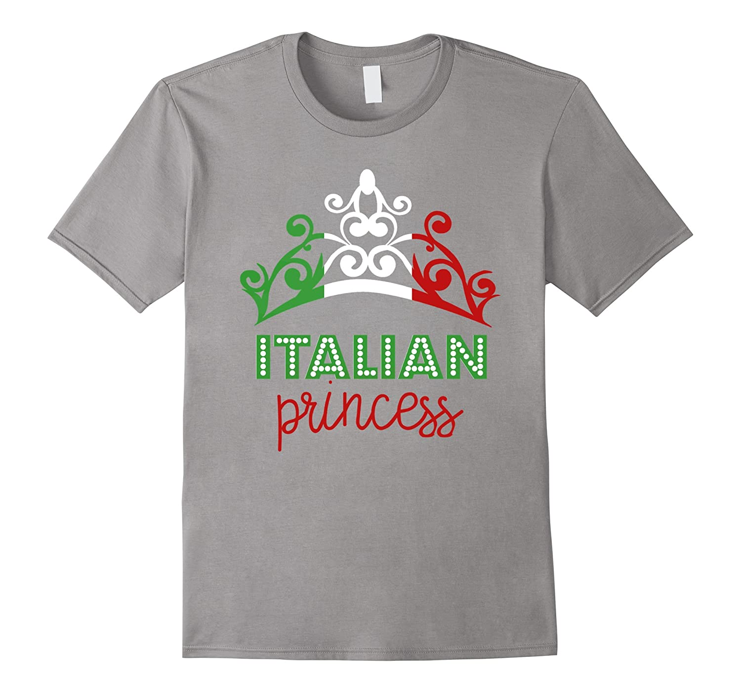 Italian Princess Tiara National Flag T-Shirt-BN