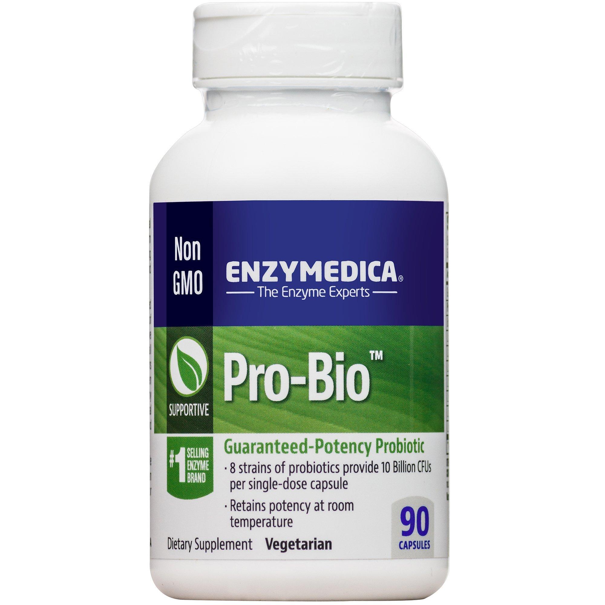 Enzymedica - Pro-Bio, Guaranteed-Potency Probiotic, 90 Capsules