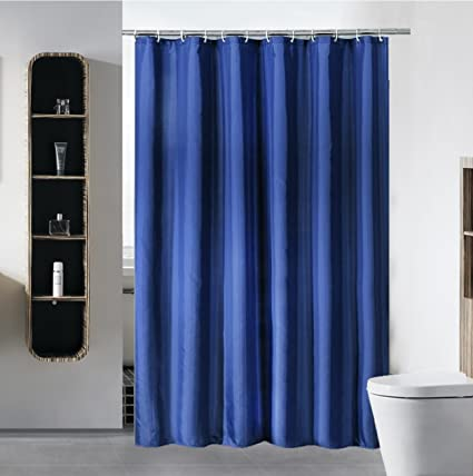 SLattye Shower Curtain Liner Water Repellent Fabric Mildew Resistant Washable Cloth Hotel Quality