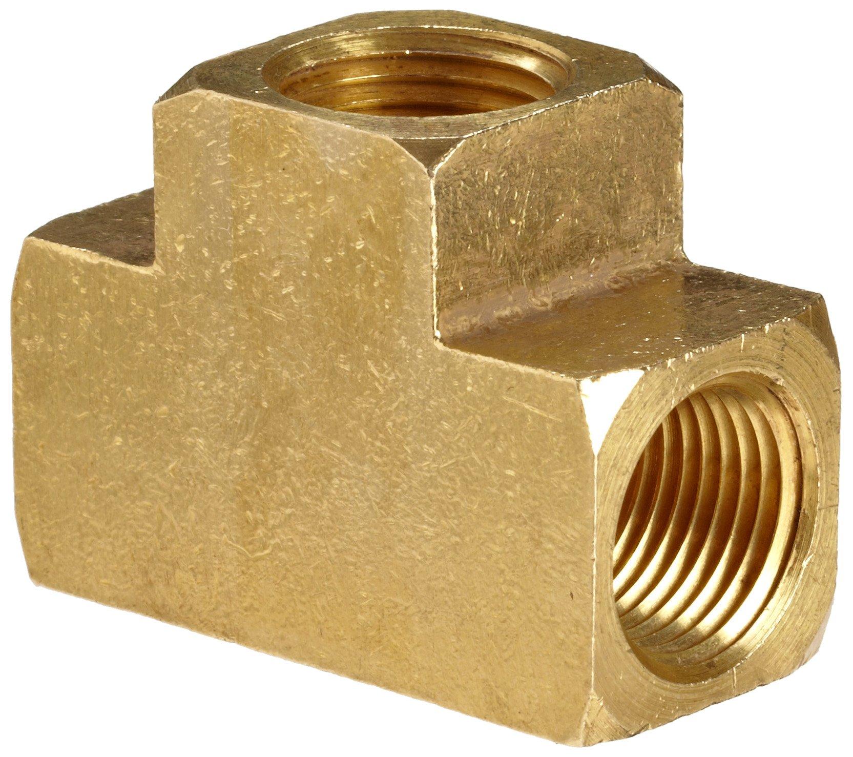 1//8 Female Pipe x 1//8 Male Pipe x 1//8 Female Pipe Anderson Metals Brass Pipe Fitting Barstock Street Tee