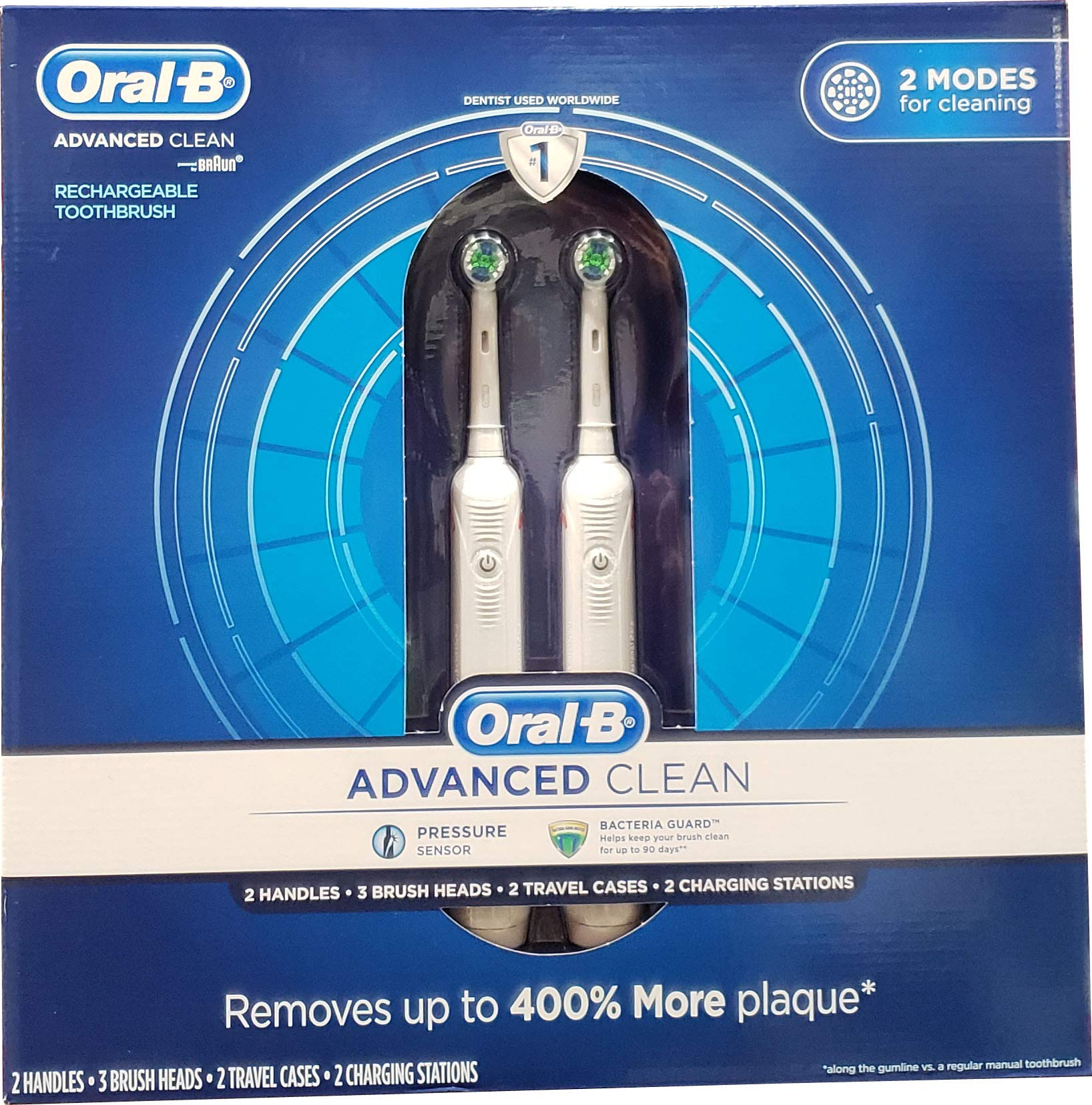 Oral B Advanced Clean Toothbrushes, 2 Count by Oral-B