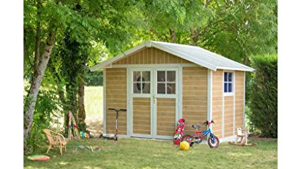 caseta cobertizo de resina jardin grosfillex deco7 7.53 m2 sherwood color marron