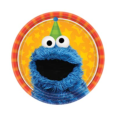Sesame Street Party Supplies 16 Pack Dessert Plates: Toys & Games