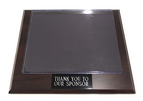 amazon com sponsor appreciation plaque 9 x 7 with slide in photo