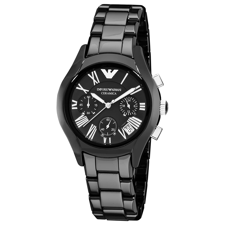 bec97f19 Buy Emporio Armani Women's AR1401 Ceramic Black Chronograph Dial ...