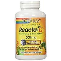 Solaray Reacta C with Bioflav Vitamin Capsules, 500 mg | 180 Count