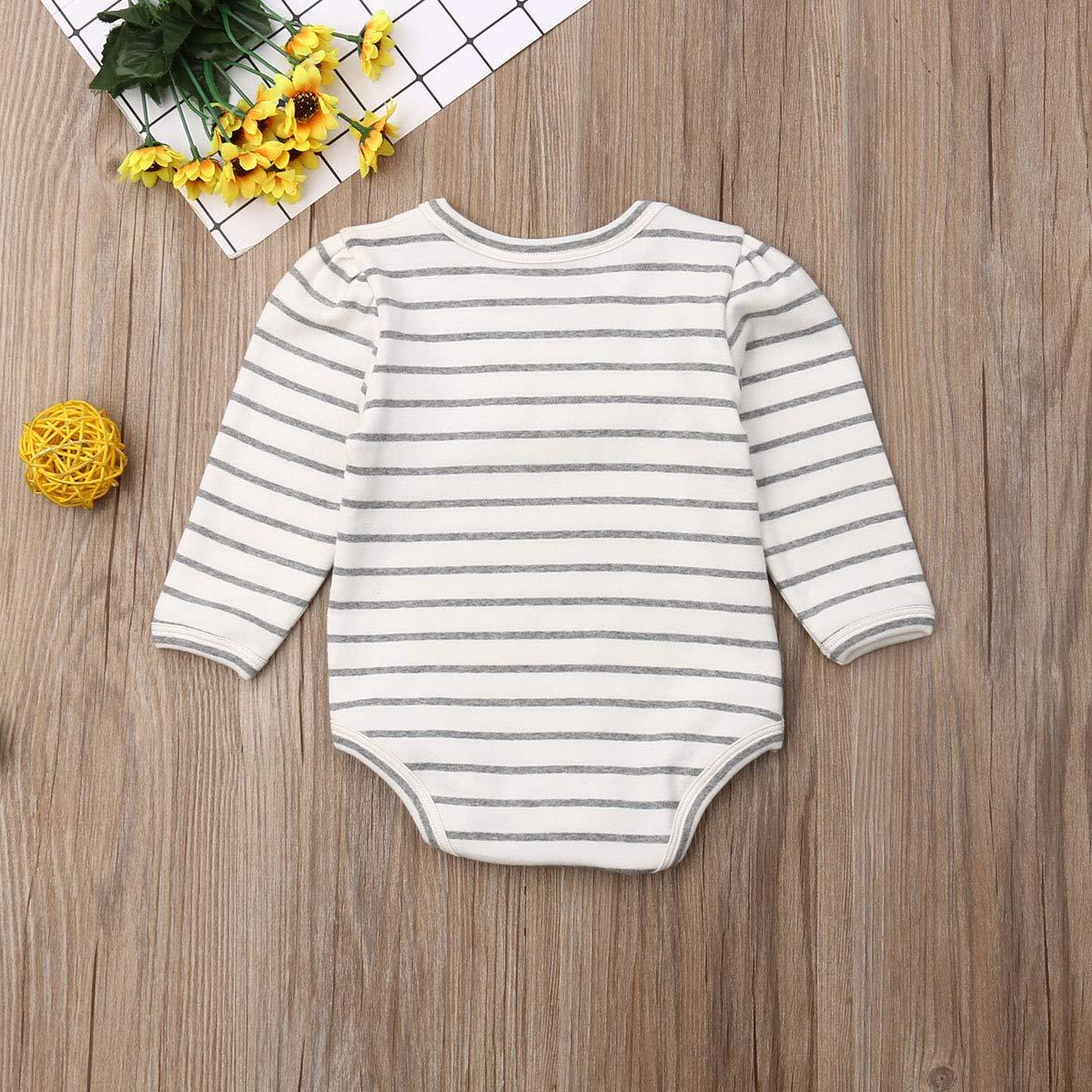 Baby Girls Boys Long Sleeve Cotton Bodysuit Pocket Autumn//Winter Romper Jumpsuit Tops Summer Spring Clothes