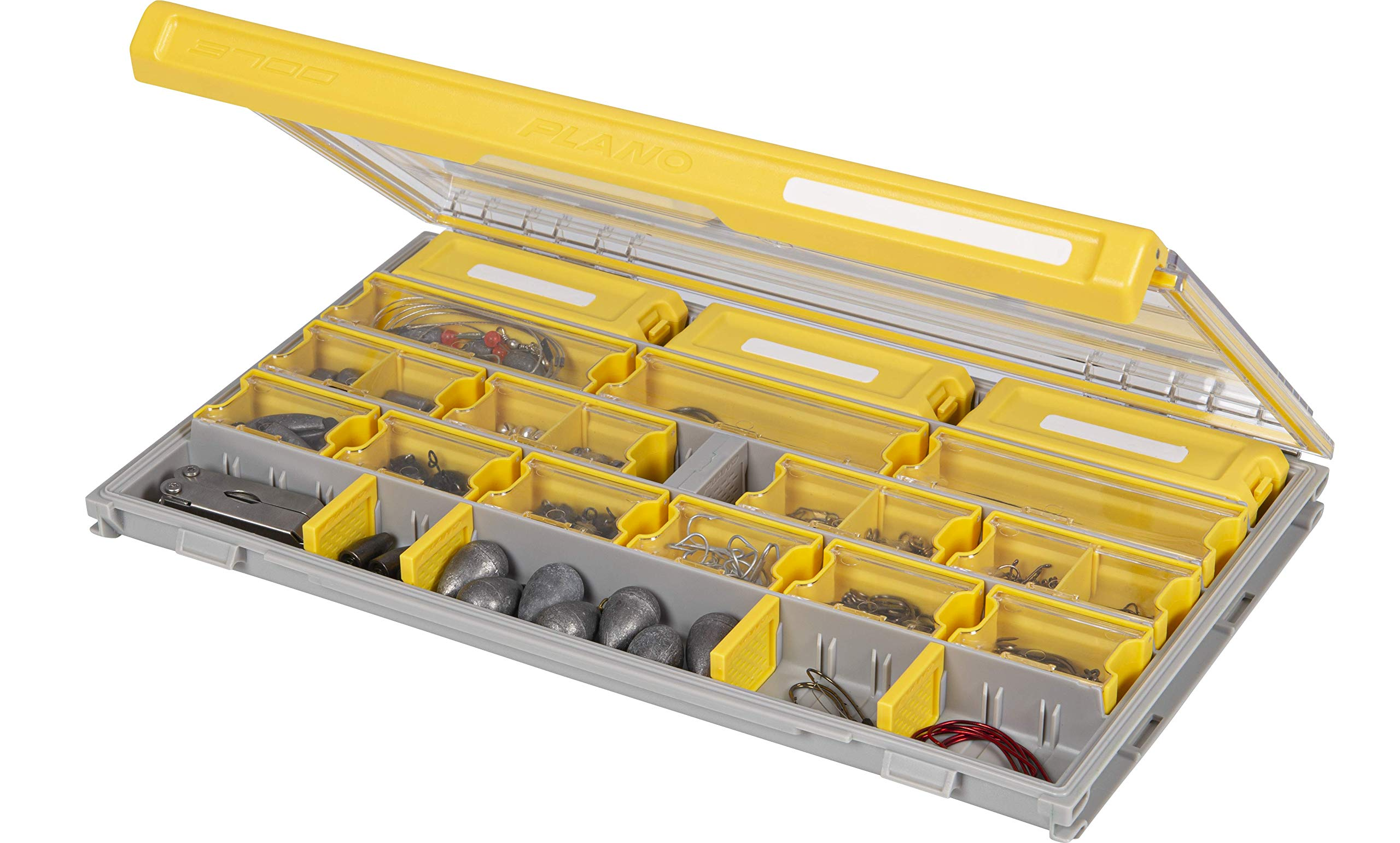 Plano Edge Master Terminal Tackle Storage | Premium Tackle Organization with Rust Prevention, Clear/Yellow, One-Size