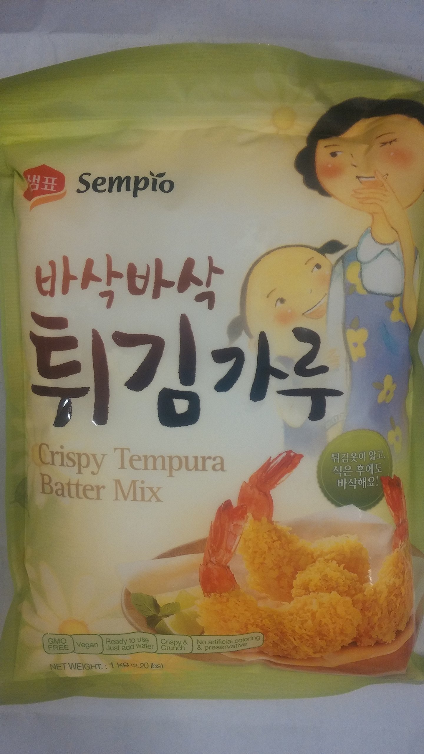Sempio Crispy Tempura Batter Mix (2.2lbs x 2 packs) by Sempio