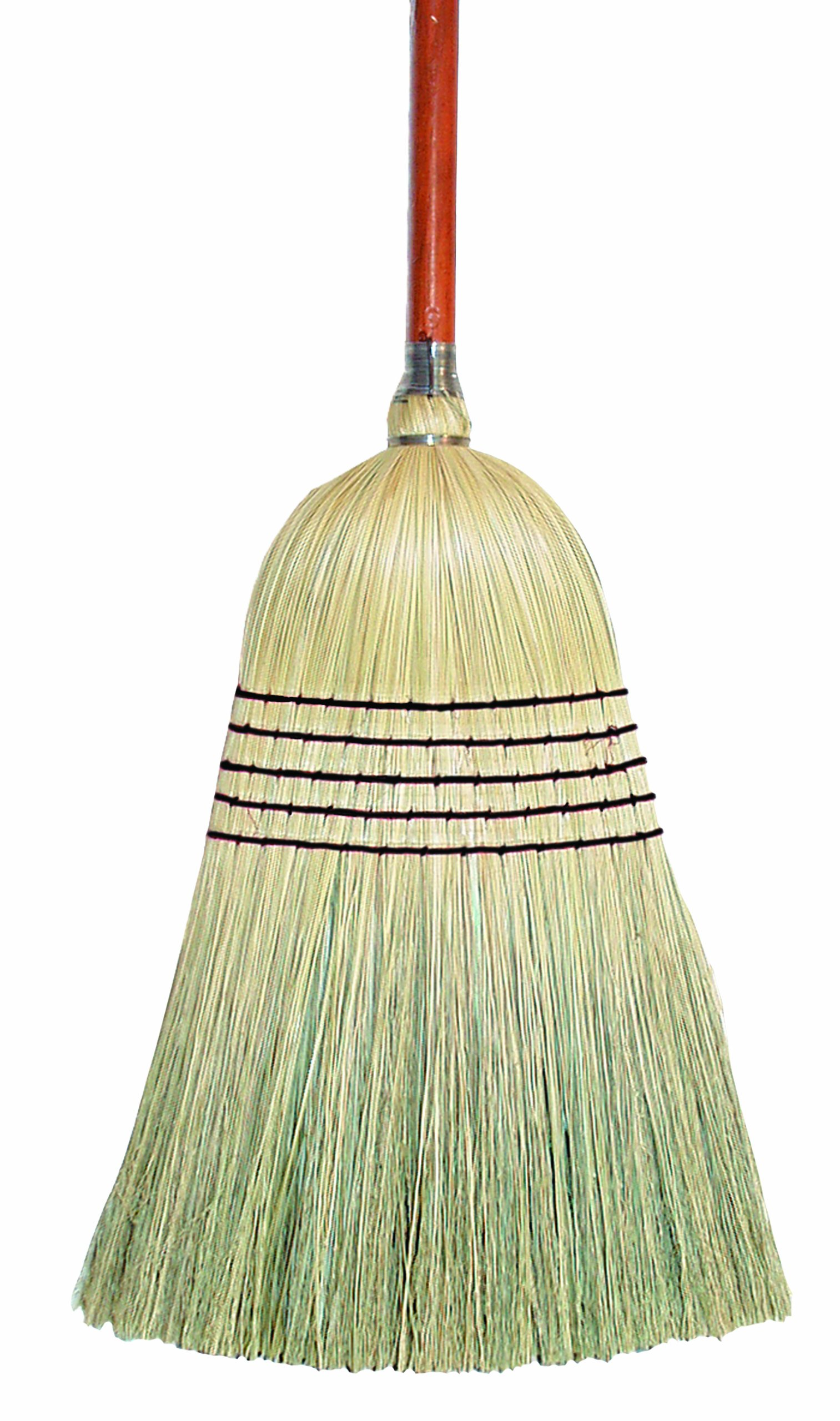 Wilen E503500, Lobby Corn Blend Broom with 7/8'' Handle, 38-1/2'' Length (Case of 12)