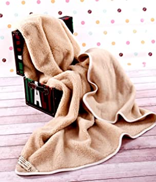Manta de 100% Pura Lana Merina Manta 250 x 200 cm Cálido y Natural Certificada por Woolmark. Muy Suave y Confortable. Manta Sofa: Amazon.es: Hogar