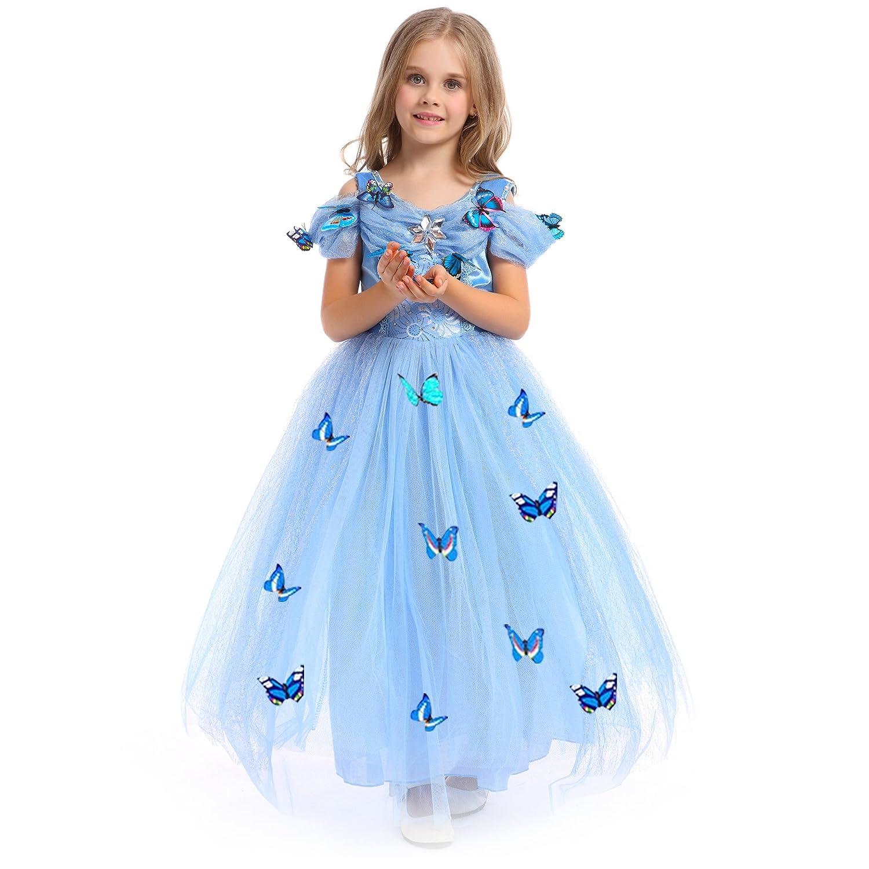 URAQT Mädchen Prinzessin Kleid Verrücktes Kleid Partei Kostüm Outfit ...