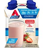 Atkins Strawberry Protein-Rich Shake. With Protein. Keto-Friendly and Gluten Free. (4 Shakes)