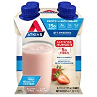 Atkins Strawberry Protein-Rich Shake. With Protein. Keto-Friendly and Gluten Free...