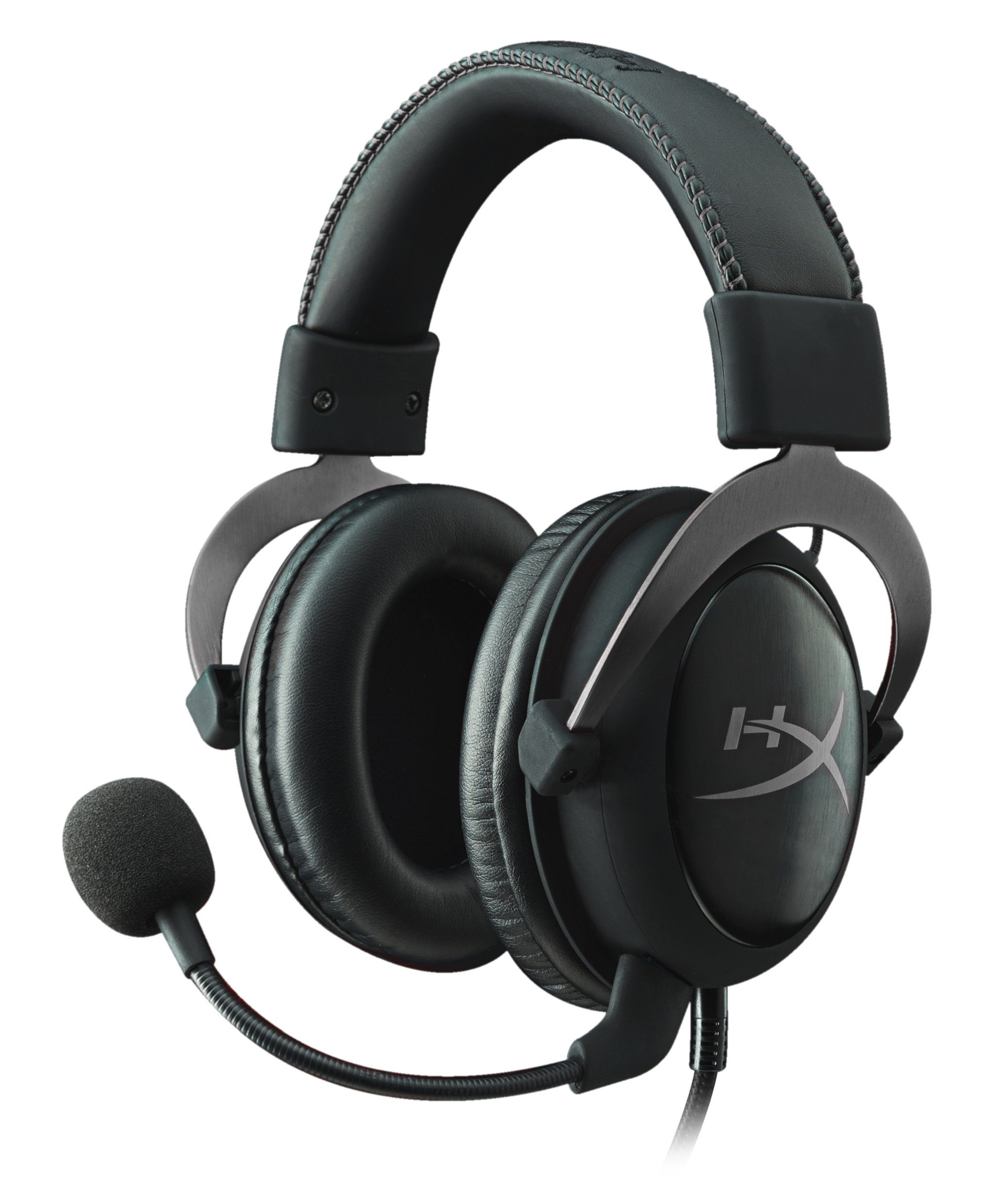 HyperX Cloud II Gaming Headset - 7.1 Surround Sound - Memory Foam Ear Pads - Durable Aluminum Frame - Works with PC, PS4, PS4 PRO, Xbox One, Xbox One S - Gun Metal (KHX-HSCP-GM) (Renewed) by HyperX
