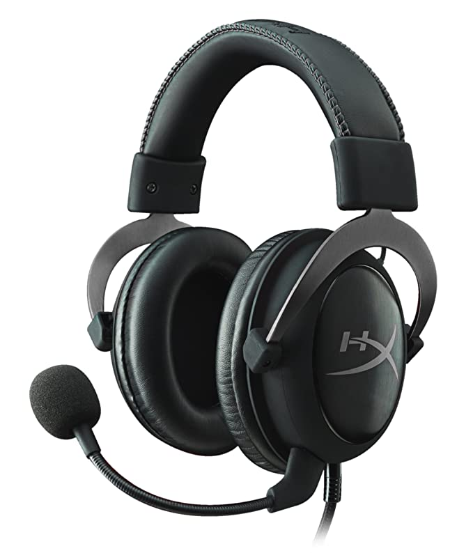 Kingston HyperX KHX-HSCP-GMRC Cloud II Gaming Headset for PC/PS4/Mac/Mobile, Gunmetal  Silver (Reacondicionado)