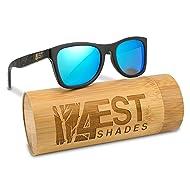 Bamboo Wood Sunglasses - Polarized handmade wooden shades in a wayfarer that Floats!