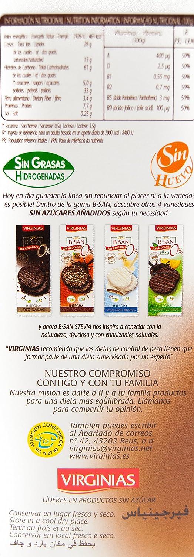 Virginias - Galleta B-San Chocolate Con Leche Sin Azúcares 120 g ...