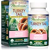 Host Defense, Turkey Tail, 60 Capsules, Natural Immune System and Digestive Support, Daily Mushroom Mycelium Supplement, USDA