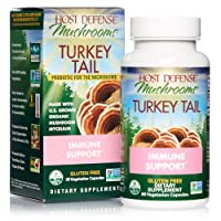 Host Defense, Turkey Tail, 60 Capsules, Natural Immune System and Digestive Support...