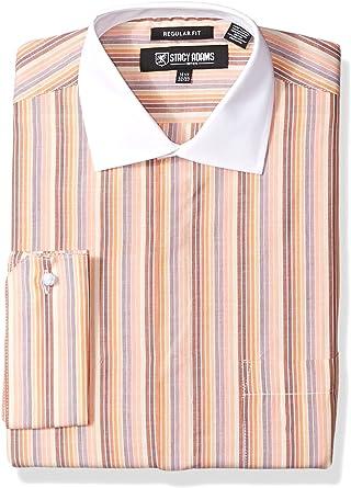 Stacy Adams Hombre ST70032 Cuello Tipo Italiano Manga Larga Camisa de Vestir: Amazon.es: Ropa y accesorios