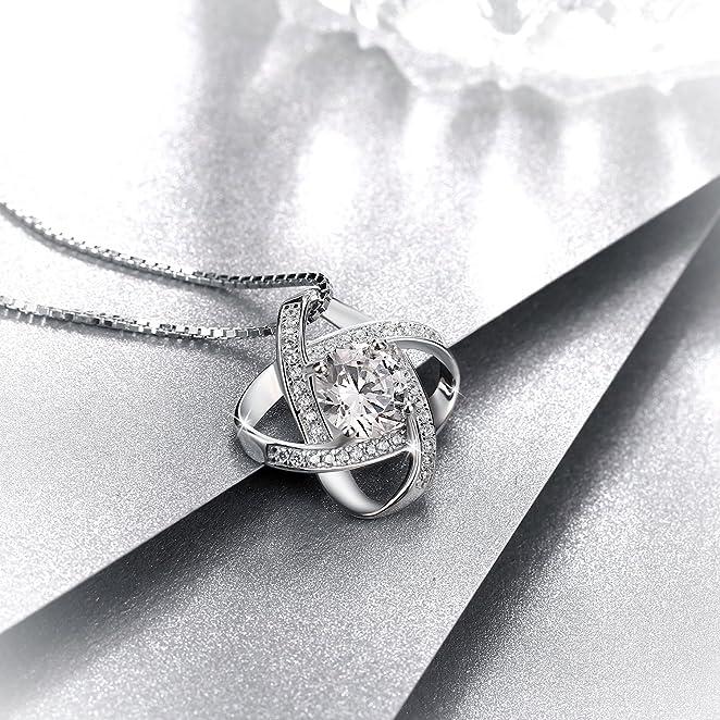 法国顶级设计师设计高质量925纯银水晶项链只要$27.85!