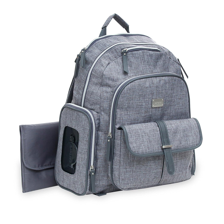 Carter's Cross Hatch Sport Backpack Diaper Bag, Grey Carter' s ca27983