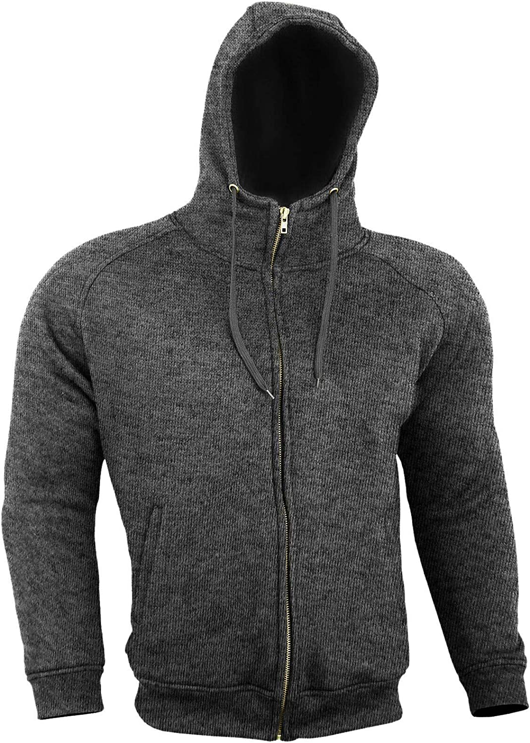 Size = X Large Thick Kevlar Motorbike Armoured Hoodie Motorcyle Summer Jacket Hoody With Removable Armour Bikers Fasion Gears Grey