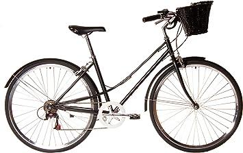 Kamikaze Kawaii Bicicleta híbrida Paseo 7 velocidades Negra ...