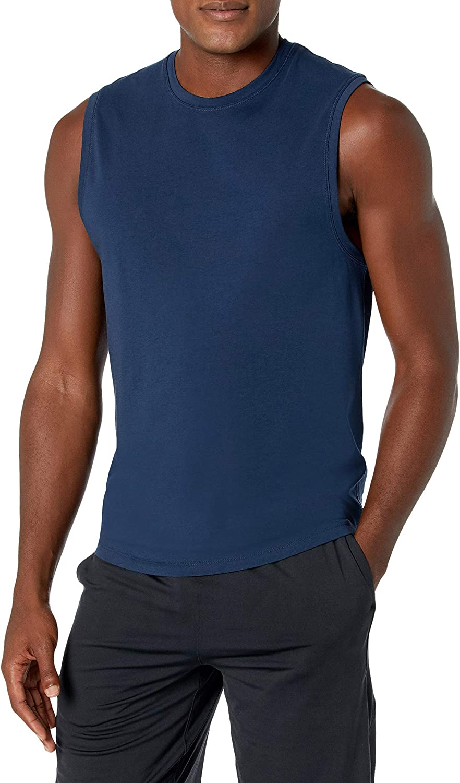 Peak Velocity Mens Pima Cotton Modal Sleeveless Tank T-Shirt