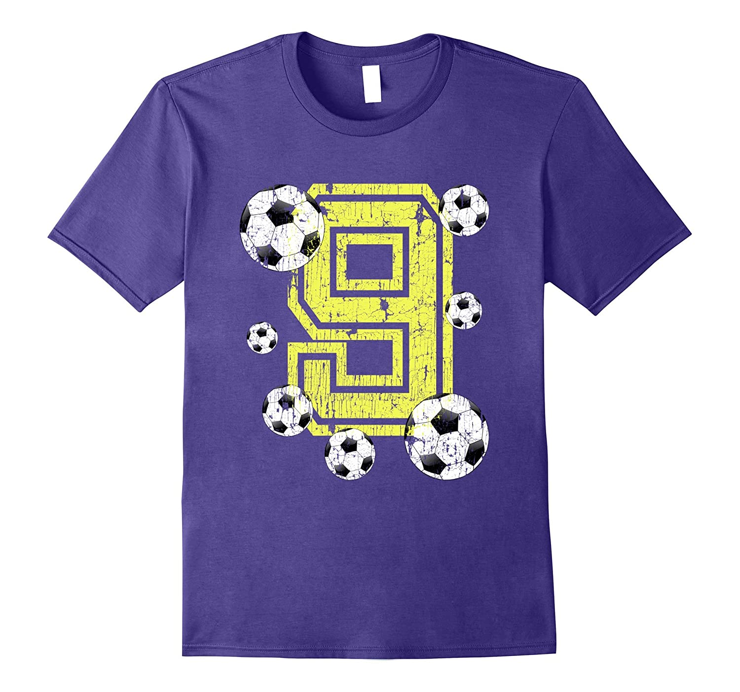 9th Birthday Soccer Fan T-Shirt Gift for Girls and Boys-TH