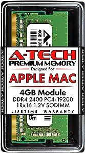 A-Tech 4GB RAM for Apple 2017 iMac 27 inch Retina 5K, 21.5 inch Retina 4K | DDR4 2400MHz PC4-19200 SO-DIMM 260-Pin CL17 1.2V Non-ECC Unbuffered Memory Upgrade Module