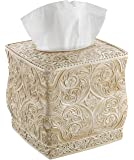 Creative Scents Square Tissue Holder – Decorative Tissue Box Cover is Finished in Beautiful Victoria Collection