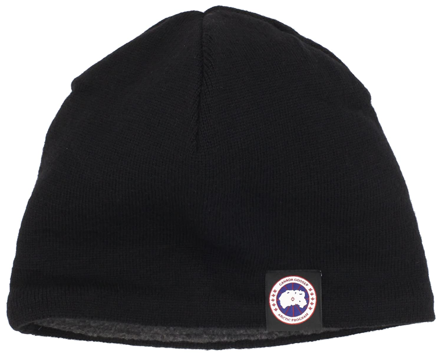 Canada Goose Men s Merino Wool Beanie Hat Black One Size  Amazon.ca  Sports    Outdoors c8619530915
