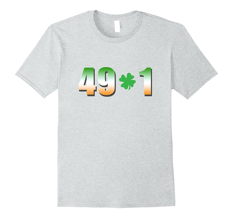 49-1 Irish Shamrock Boxing Fan T-Shirt-Art