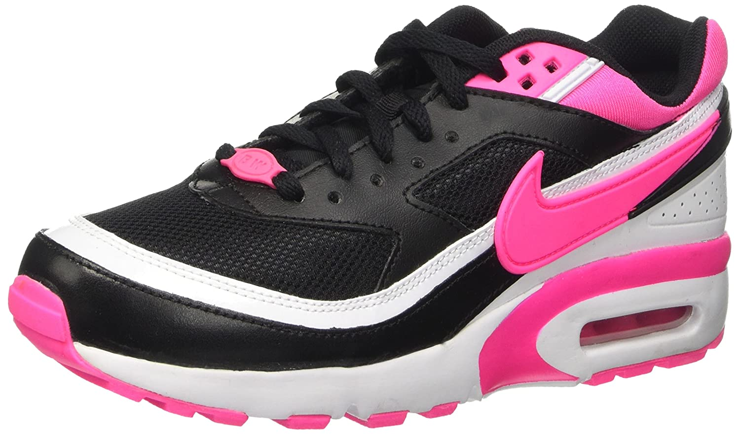 Nike Air Max BW (GS), Chaussures de Gymnastique Fille, BlackPink BlastWhite, 36 EU