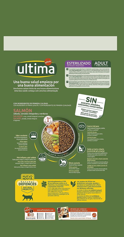 Pienso para Gatos Esterilizados Adulto con Salmón - 3kg: Amazon.es: Productos para mascotas