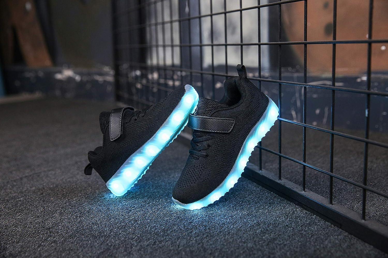 6b5877cb2 Ansel-UK LED Zapatos Verano Ligero Transpirable Bajo 7 Colores USB Carga  Luminosas Flash Deporte de ...