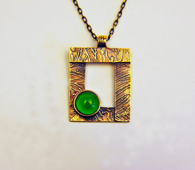 3 x 3,5 cm Lampworking Frame Murano Glass Pendant Necklace Handmade Jewelry