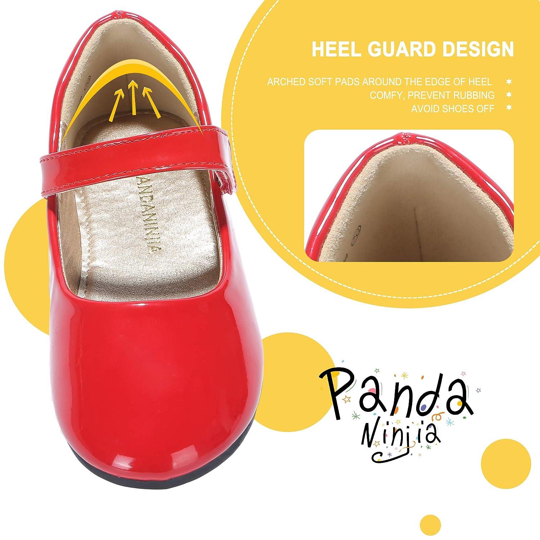 Toddler//Little Kid PANDANINJIA Girls Susie Party Wedding School Uniform Ballerina Ballet Mary Janes Flats Dress Shoes