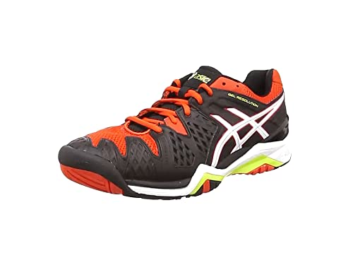 30a85e3194b7 ASICS Men s s Gel-Resolution 6 Tennis Shoes Multicolor (Safety  Yellow White Poseidon