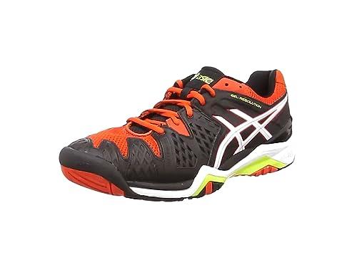 online store a7b1b 8fd99 ASICS Gel-Resolution 6 Chaussures de Tennis Homme, Noir (Black White