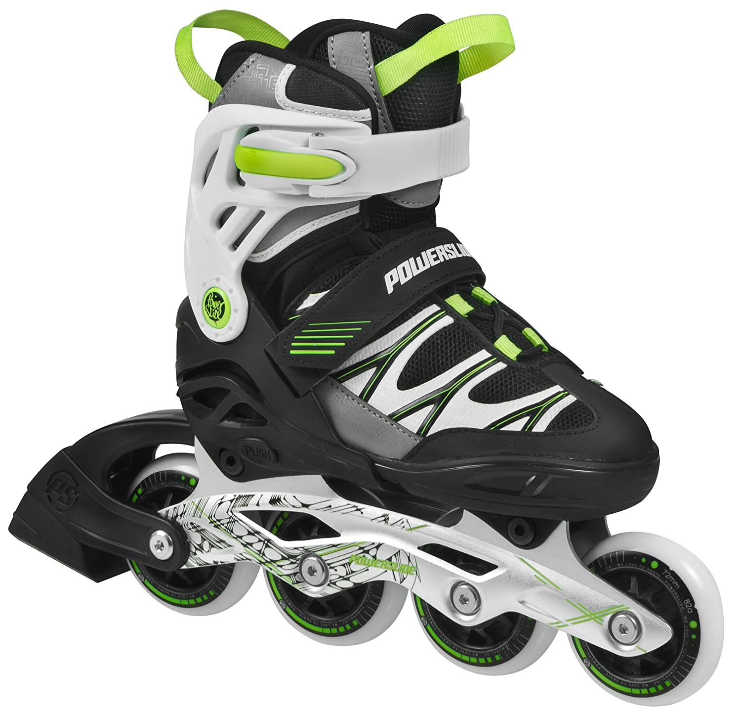Powerslide Fitness Skates Phuzion Fun Boys Patines línea color verde talla