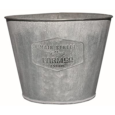 Distressed Galvanized Tin Planter - Medium : Garden & Outdoor