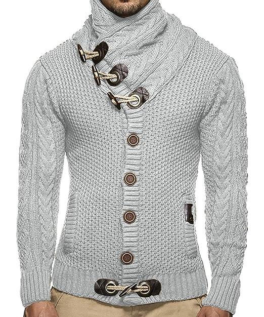Amazon.com: Puwany - Sudaderas para hombre, diseño de cuello ...
